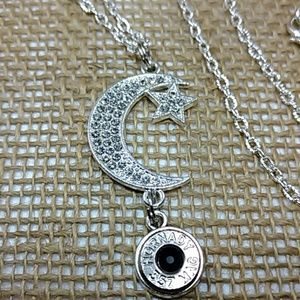 Moon and Stars Bullet Necklace .357 Magnum